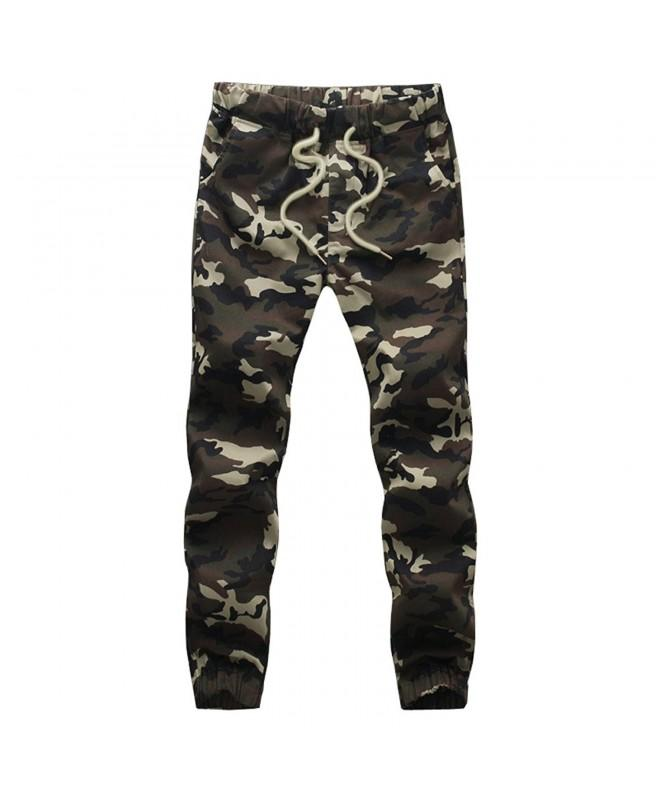 HANQIU Casual Camouflage Joggers Sweatpants