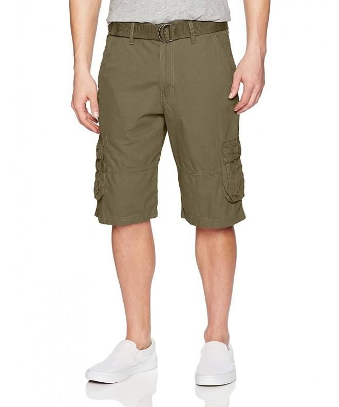 WT02 Belted Canvas Cargo Shorts