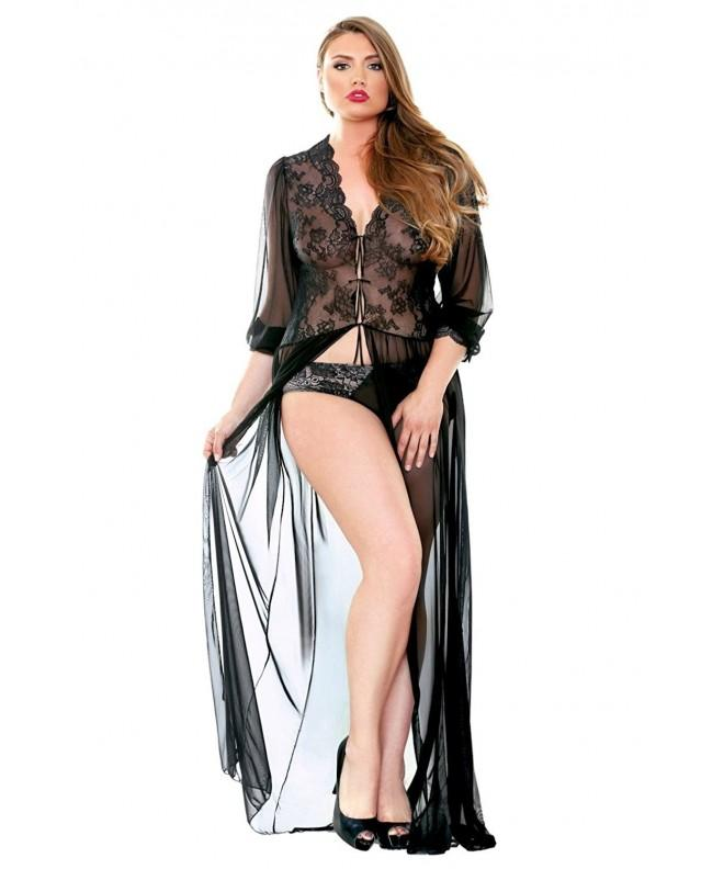 Fantasy Lingerie Womens Black Dressing