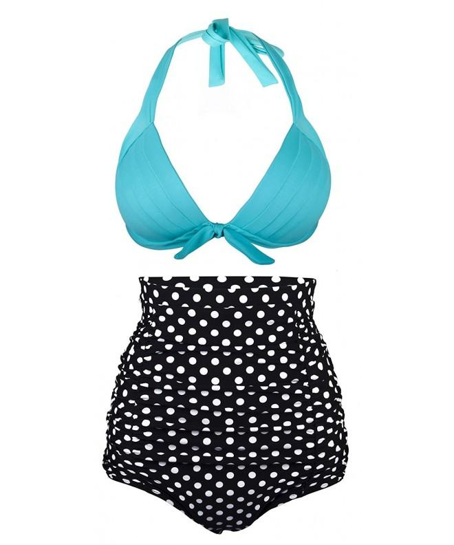 AnniBlue Womens Waisted Bikini Swimsuit