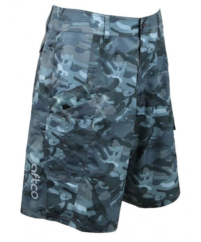 AFTCO Tactical Fishing Shorts Blue