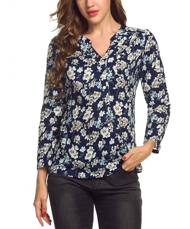 Corgy Flower Blouse Cuffed Sleeve