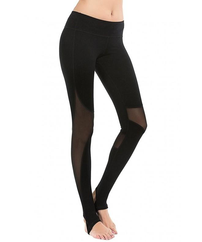 YIANNA Stirrup Leggings See Through YA4007 Black 4