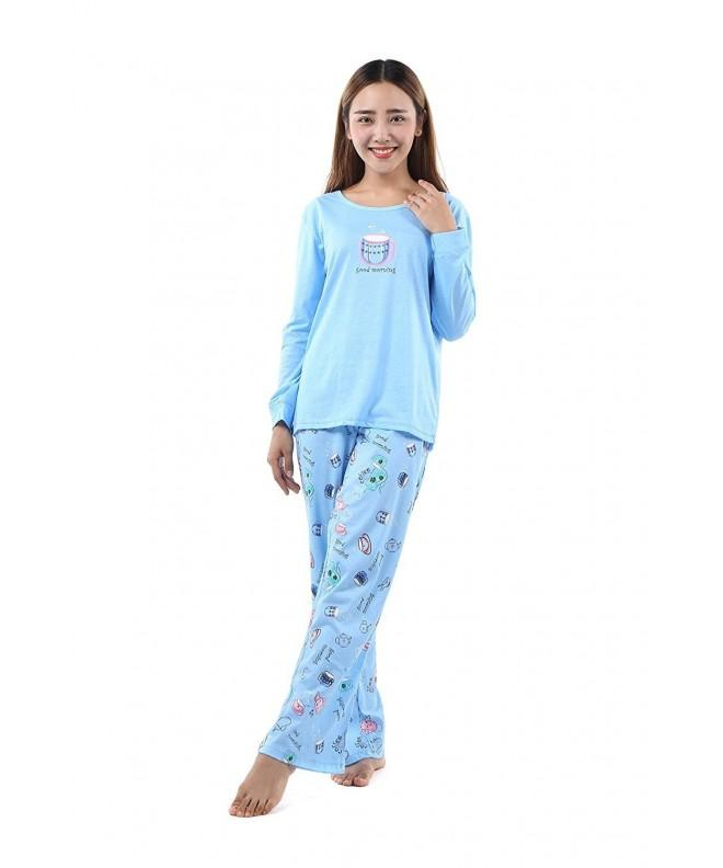 Amoy Baby Womens Sleeve Cotton SY144 Blue XL