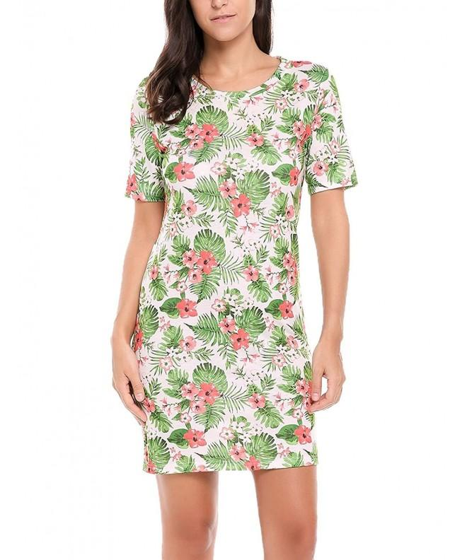 Zeagoo Womens Printed T shirt Dresses