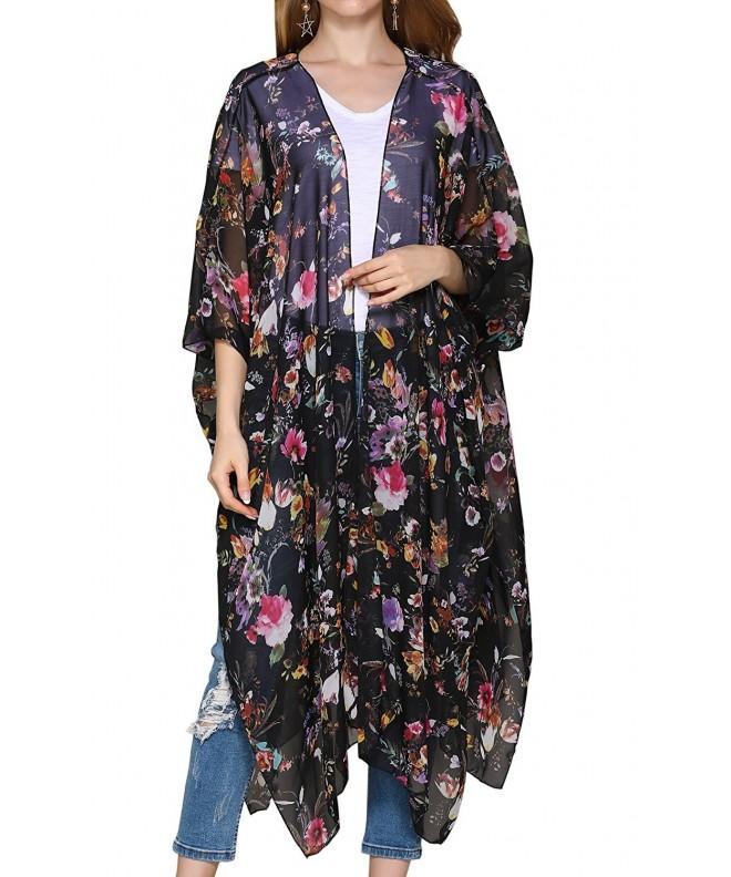 Hibluco Womens Chiffon Cardigan Outwear