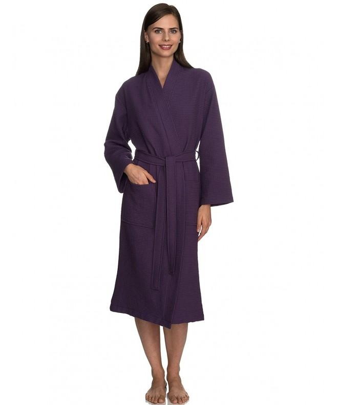 TowelSelections Turkish Waffle Bathrobe Loganberry