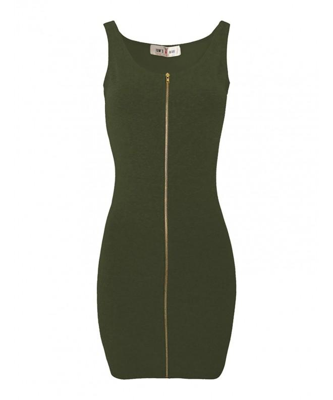 Toms Ware Women Bodycon TWCWD079 KHAKI US
