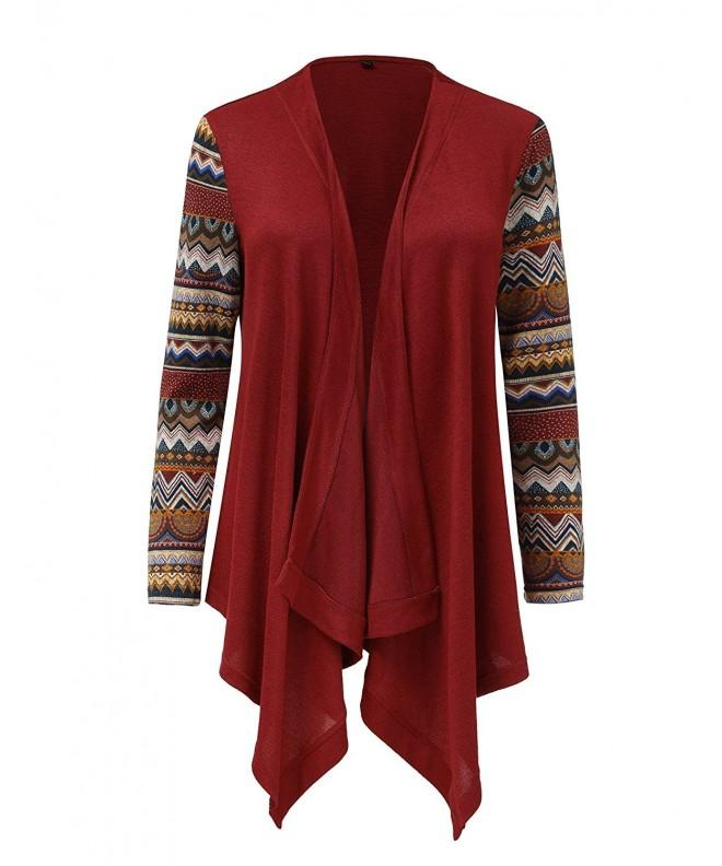 GRAPENT Asymmetrical Cardigan Burgundy XX Large