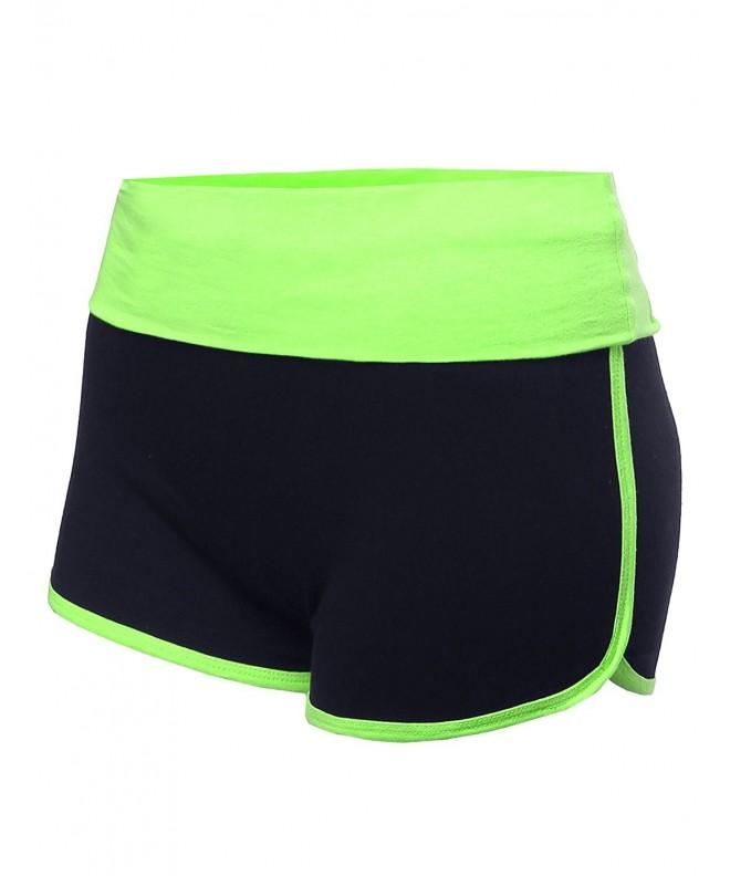 Folded Waist Casual Shorts Lemon