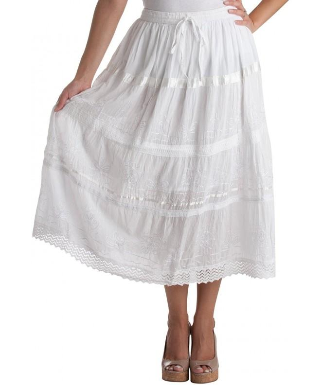 AA554M Embroidered Bohemian Length Cotton