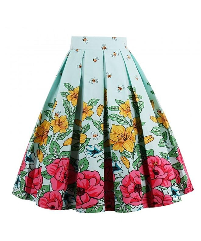 Girstunm Pleated Vintage Bee Flower XXX Large