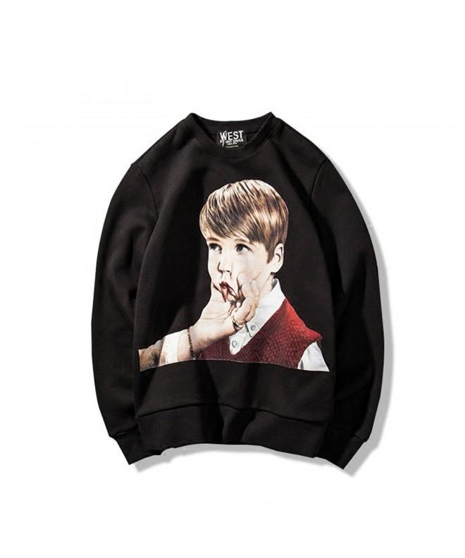 Stylish Mid Weight Crewneck Fleece Sweatshirt