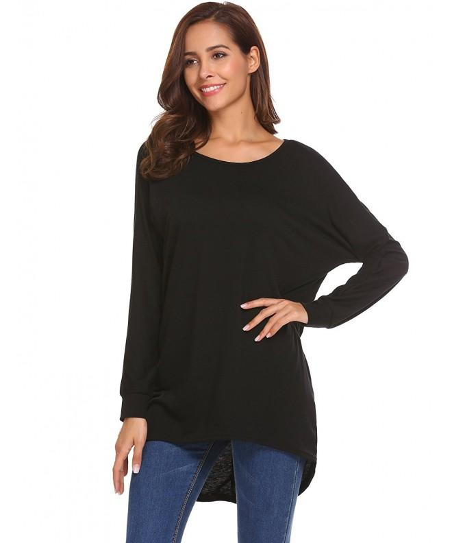 Easther Womens Batwing Pullover T Shirt