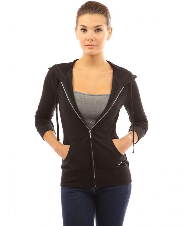 PattyBoutik Womens Hoodie Pocket Jacket