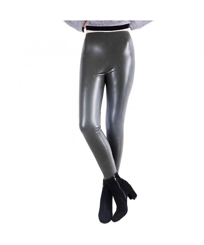 OYEAHGIRL Stretchy Leather Leggings All Match