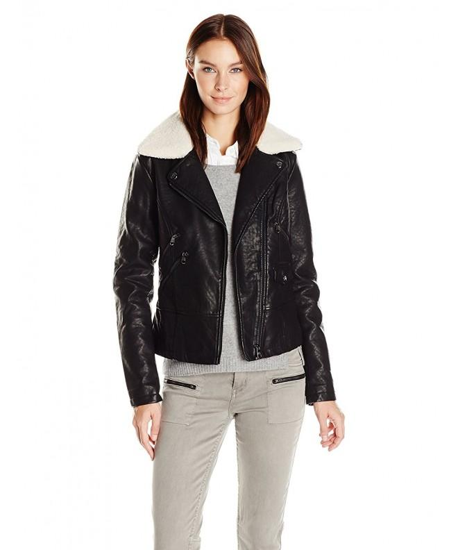 Steve Madden Womens Asymmetrical Jacket