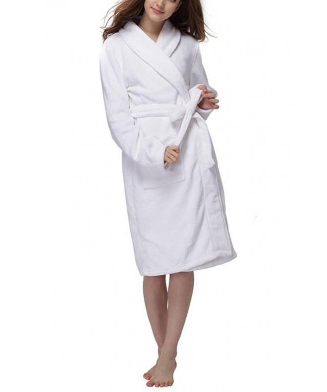 LUXEHOME Womens Flannel Bathrobe Luxury