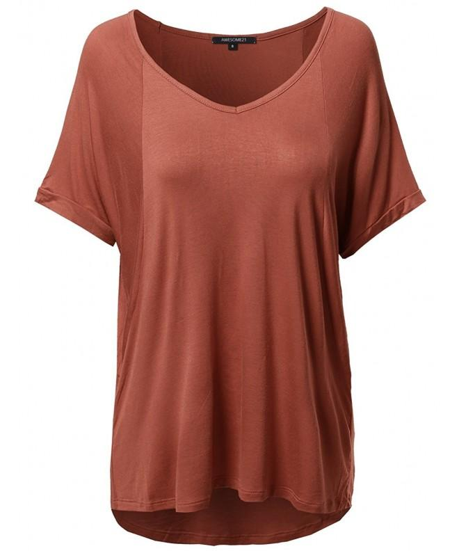 Solid Loose Stretch V neck Sleeve