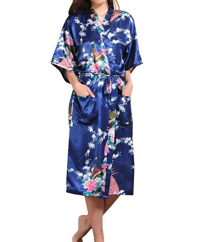 Asherbaby Peacock Blossoms Bathrobe Chemise