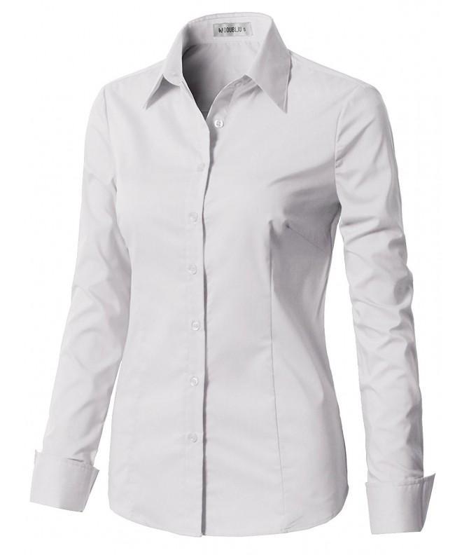 CLOVERY Womens Sleeve Cotton Spandex