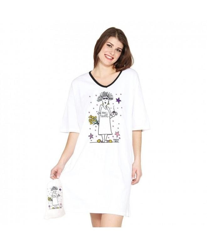 Mature Fabulous White Nightshirt Bag