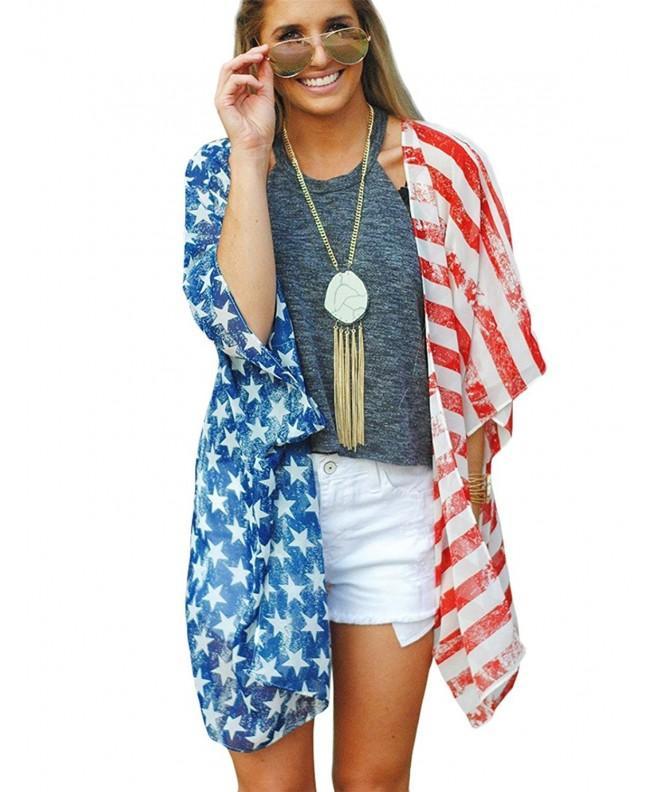 Poptem Womens American Beachwear Cardigan