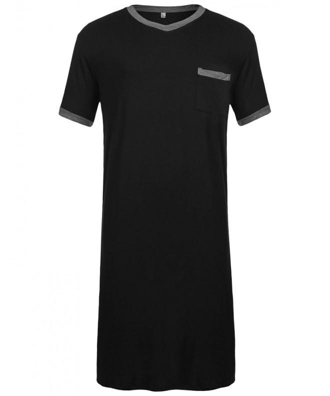 Dicesnow Cotton Nightshirt Comfort Sleepwear