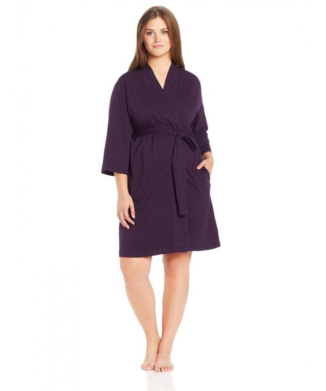 Jockey Womens Plus Size Robe Eggplant