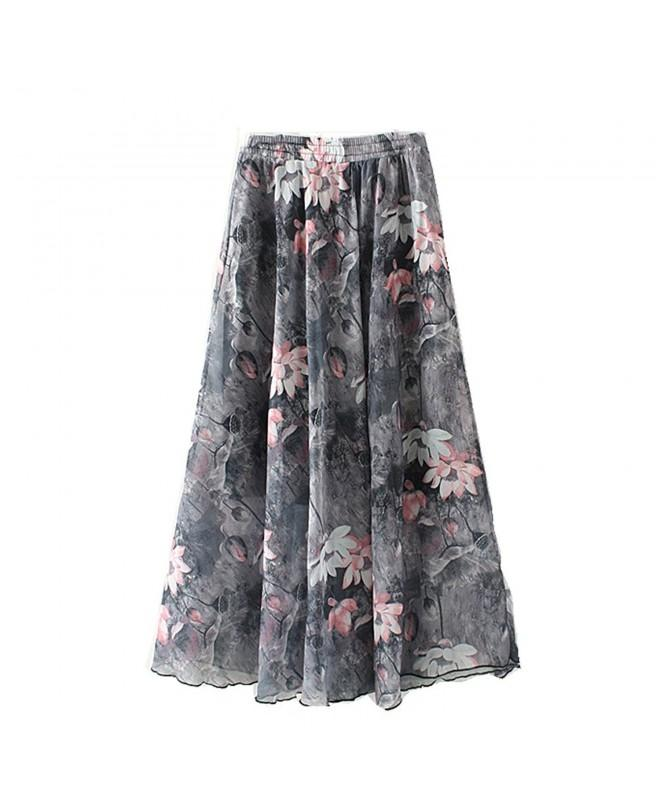Eleter Girls Chiffon Skirt Grey1