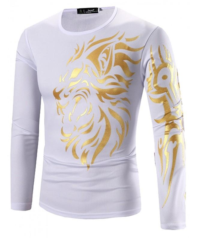 MODLFINE Fashion Printing Sleeve T Shirt
