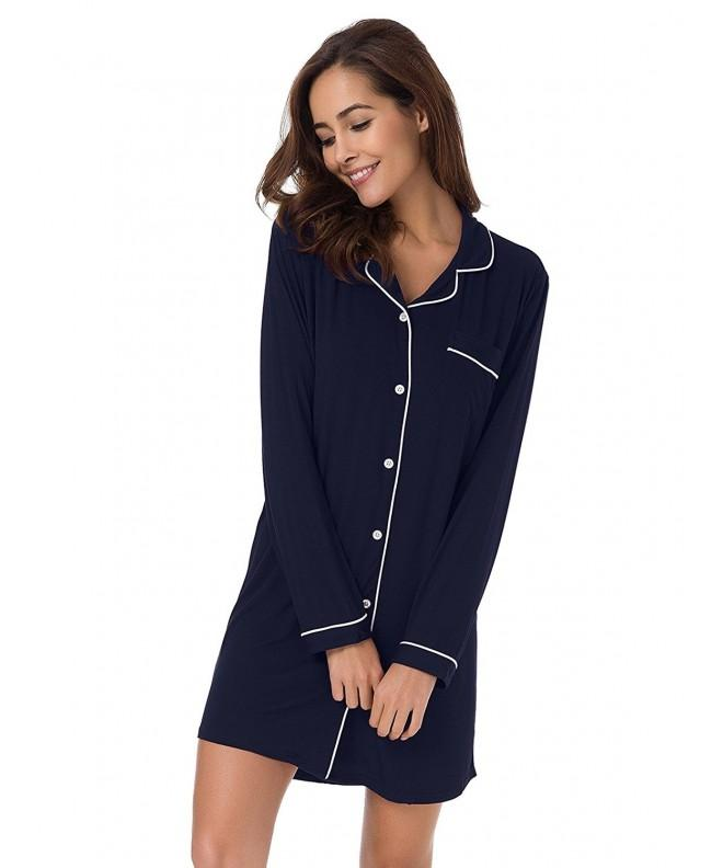 SIORO Sleepwear Nightshirts Nightgown Loungewear