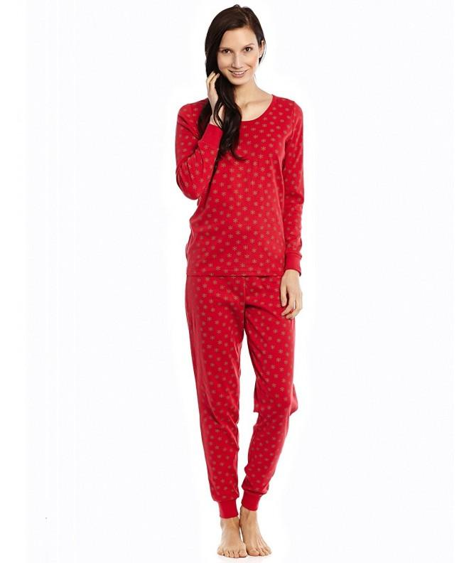 Women Piece Pajama Snowflake Large
