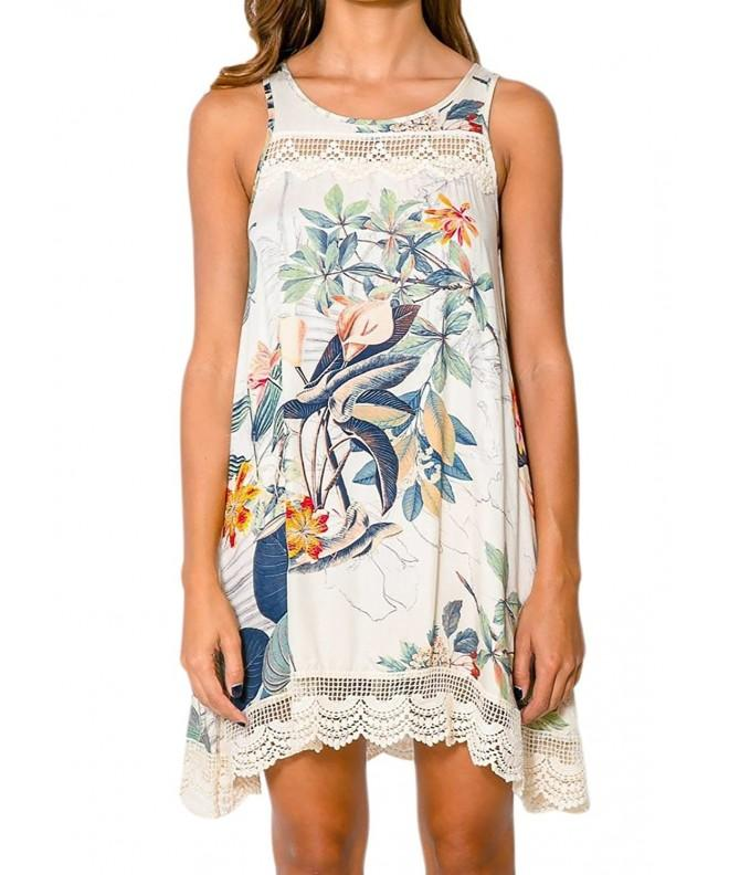 Womens Summer Dresses Sleeveless Floral