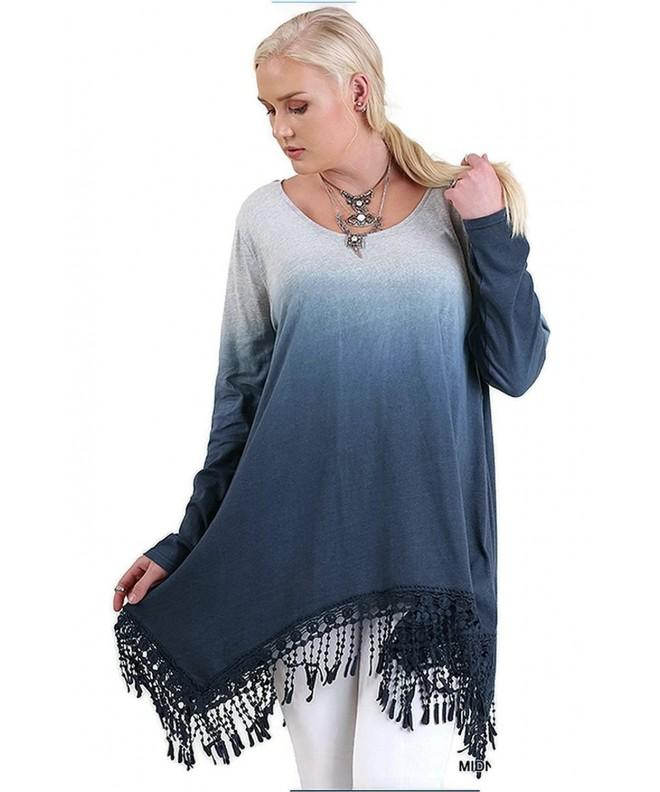 Umgee Boho Fringe Tunic Midnight