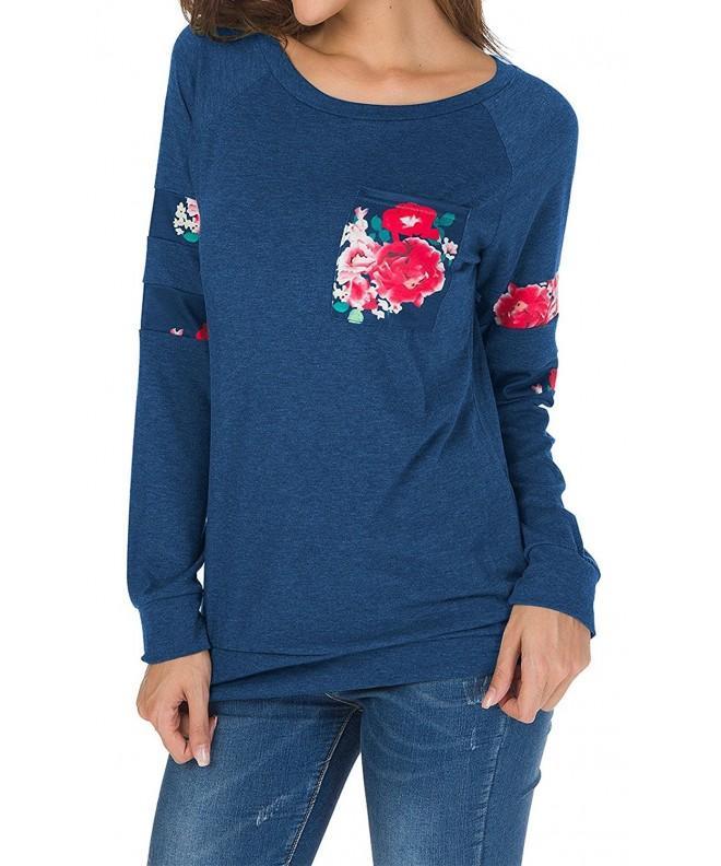 Hibluco Womens T Shirt Printed Pullover