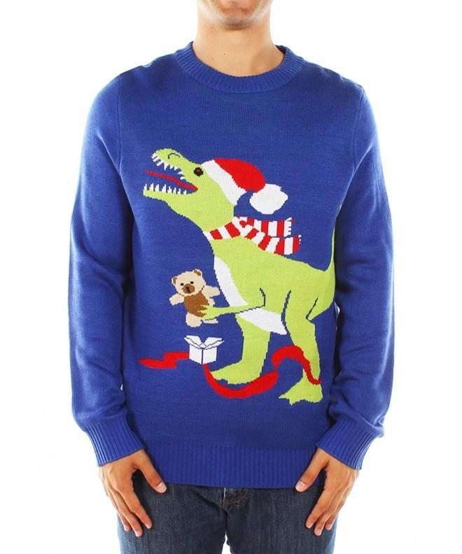 Mens Ugly Christmas Sweater T Rex