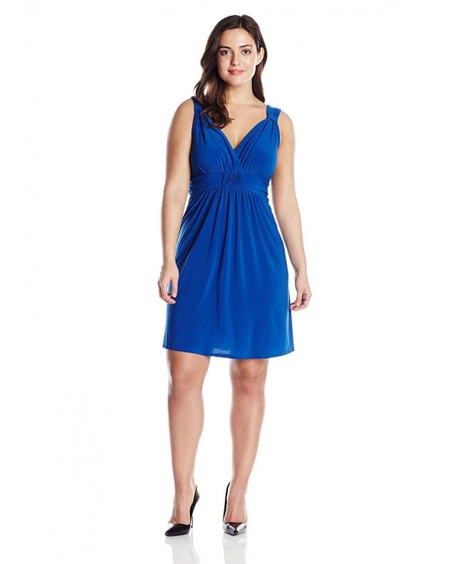Star Vixen Plus Size Sleeveless Knotfront