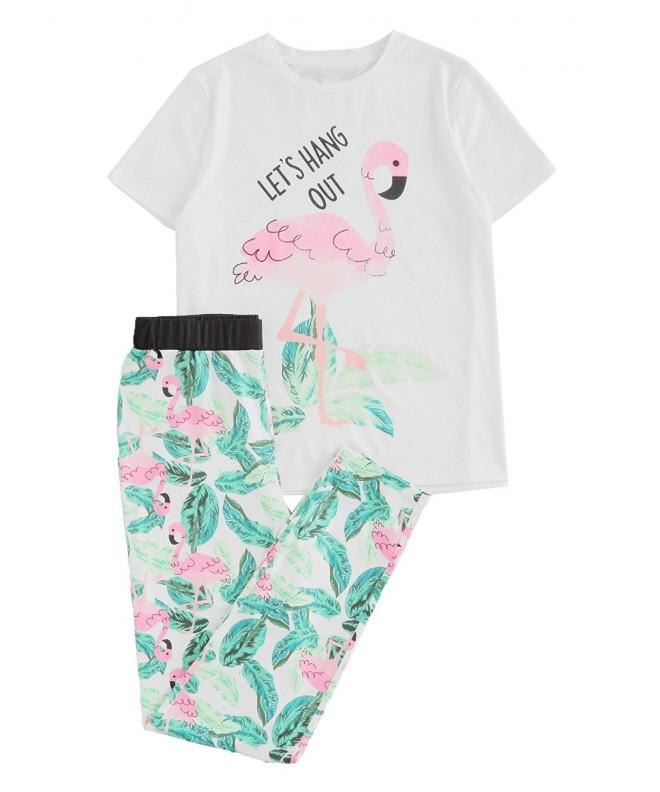 DIDK Flamingo Jungle Print Pajama