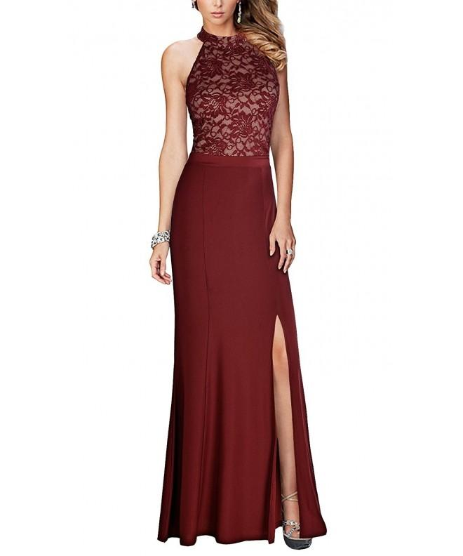 REPHYLLIS Womens Vintage Wedding Burgundy