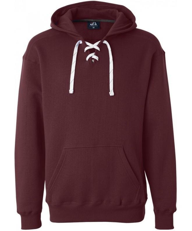 Maroon Hockey Hood Sweatshirt Polyester