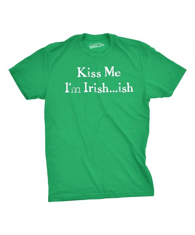 Mens Irish ish Tshirt Funny Patricks
