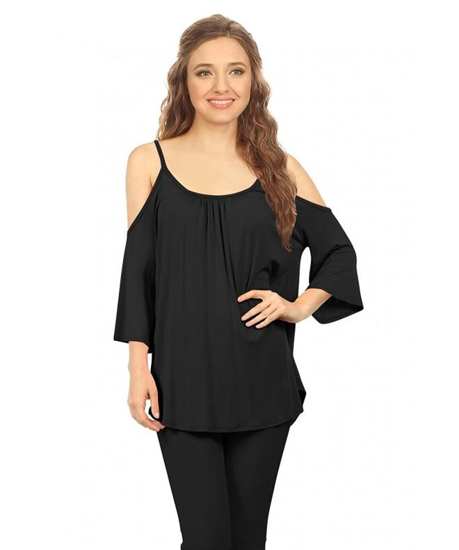 Simlu Womens Shoulder Spaghetti Top