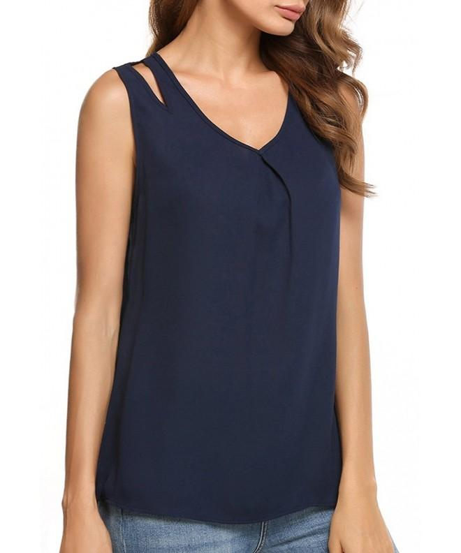 Womens Chiffon Sleeveless Camisole T Shirt