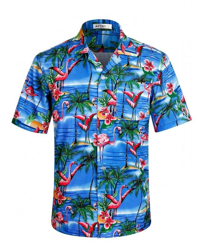 APTRO Hawaiian Pattern Sleeve Shirts