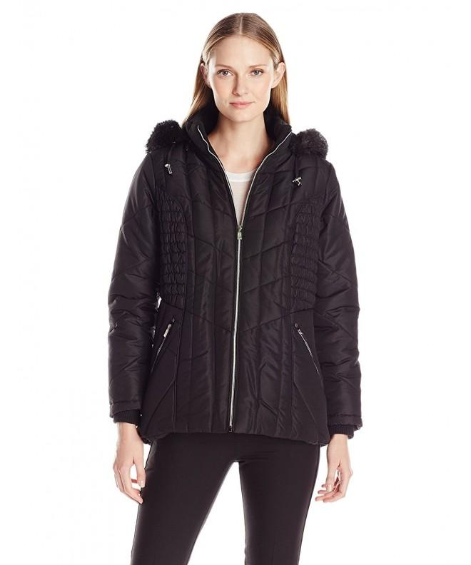 Details Womens Puffer Braided Rouched