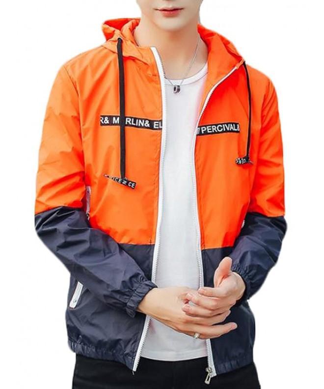 Jaycargogo Contrast Windbreaker Outwear Jackets