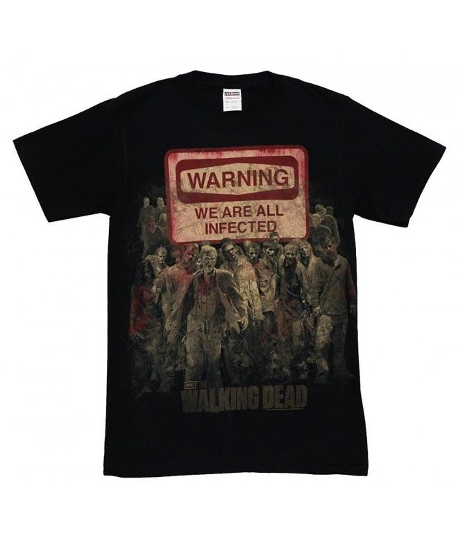 Walking Dead Warning Infected T Shirt