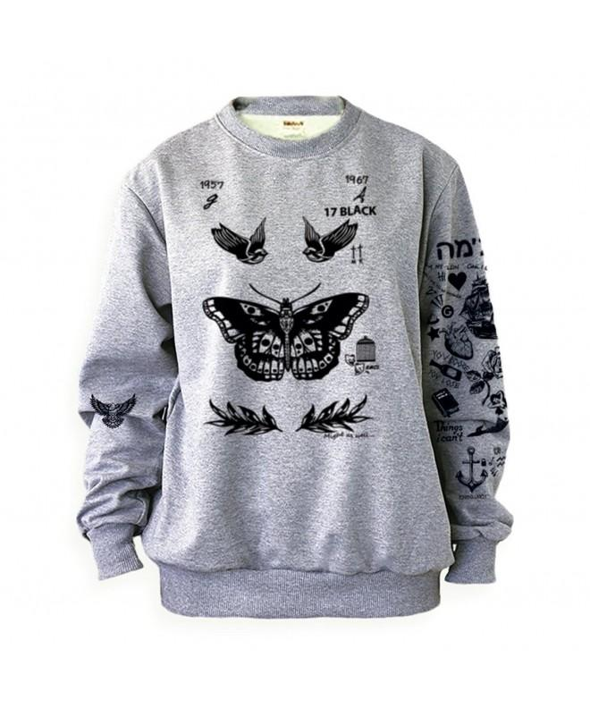 Noonew Womens Tattoos Sweatshirt XX Large