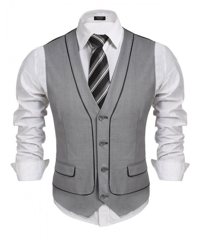COOFANDY Business Skinny Separate Waistcoat